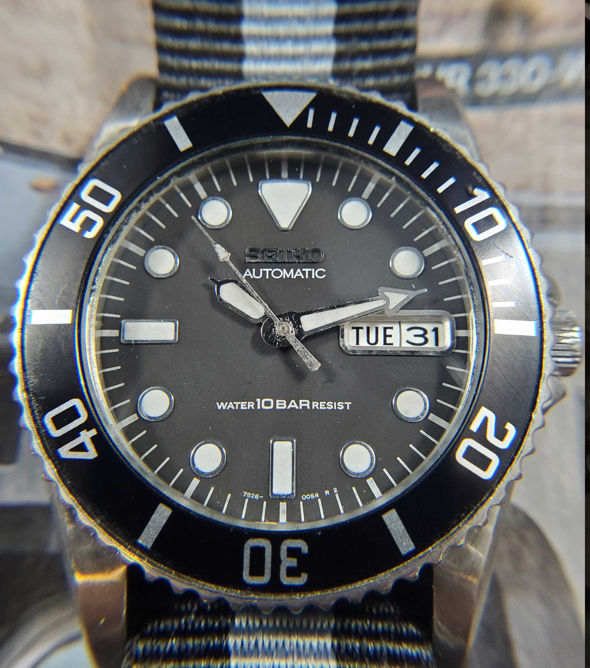 1993 Seiko 7S26 automatic dive watch