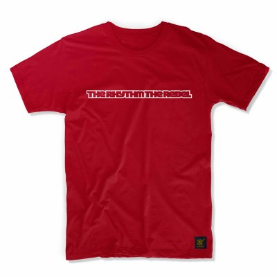 The Rhythm The Rebel -red T shirt by uchi clothing