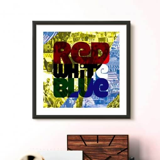 art print - Red White Blue by uchi clothing
