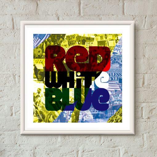art print - Red White Blue