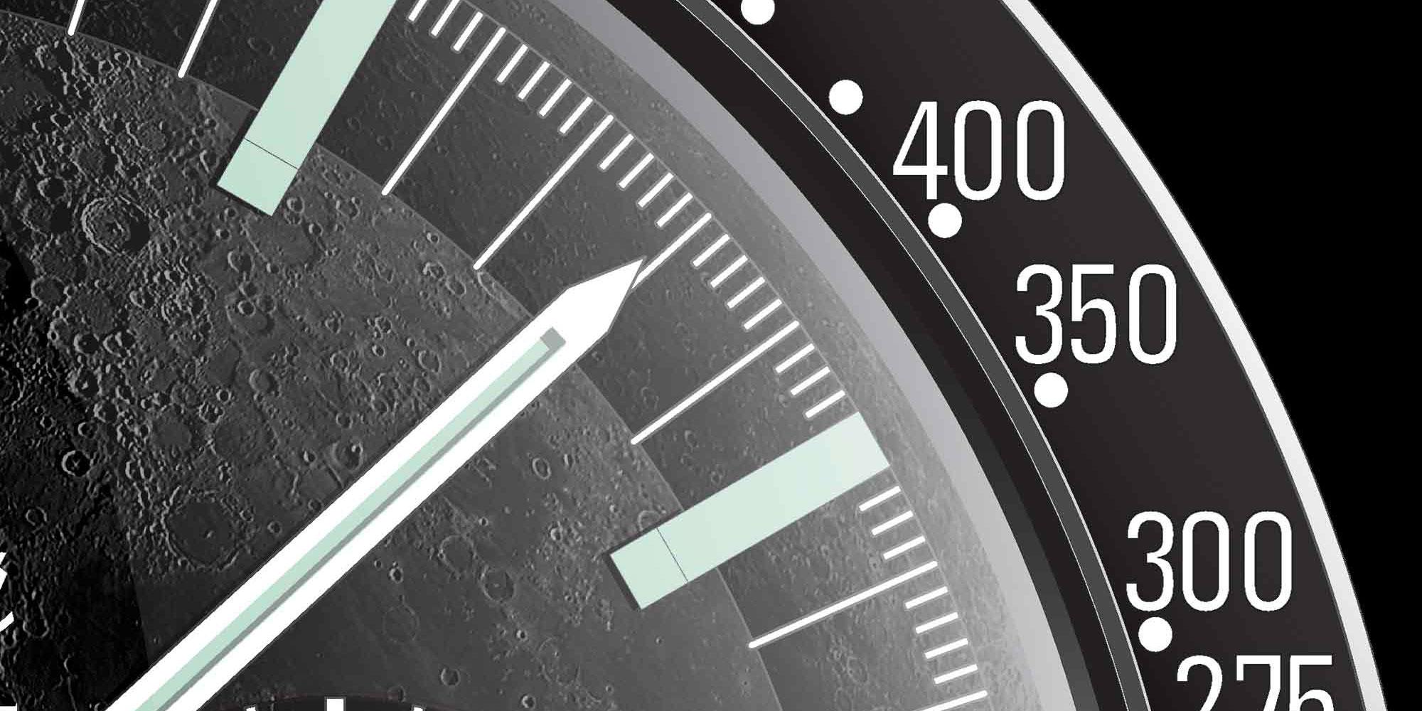 Speedmaster Moonwatch print detail