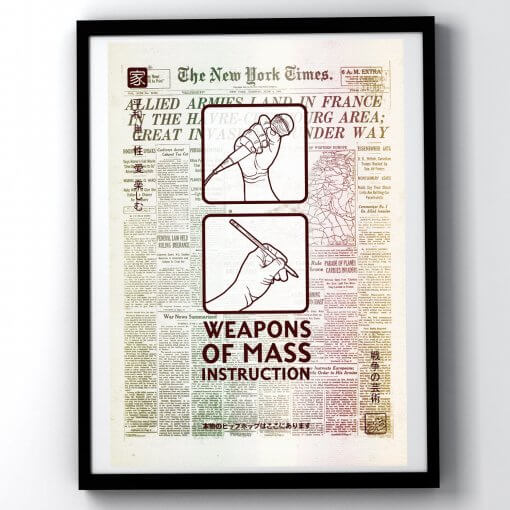 Weapons of Mass Instruction D-Day Edition - art print
