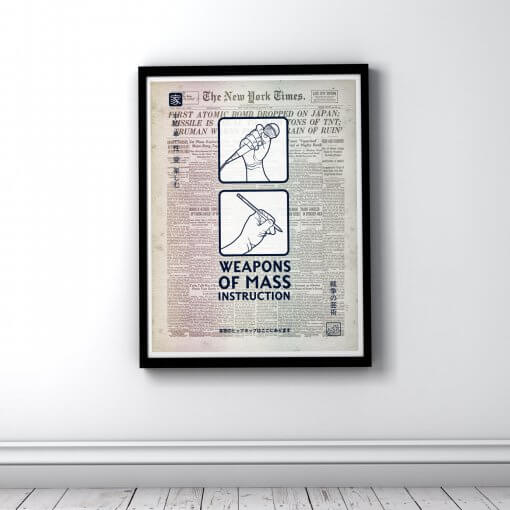Weapons of Mass Instruction Enola Gay edition - art print