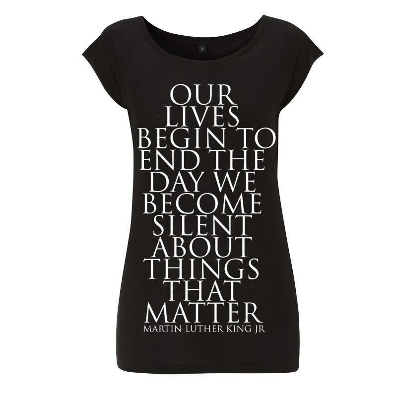 uchi Things That Matter men's women black T shirt