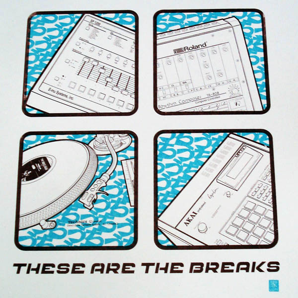 uchi These Are The Breaks screen print - blue