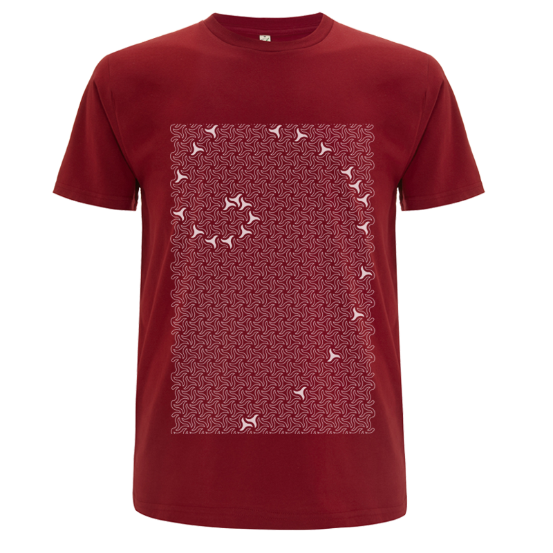 uchigothic Alhambra men's dark red  tshirt