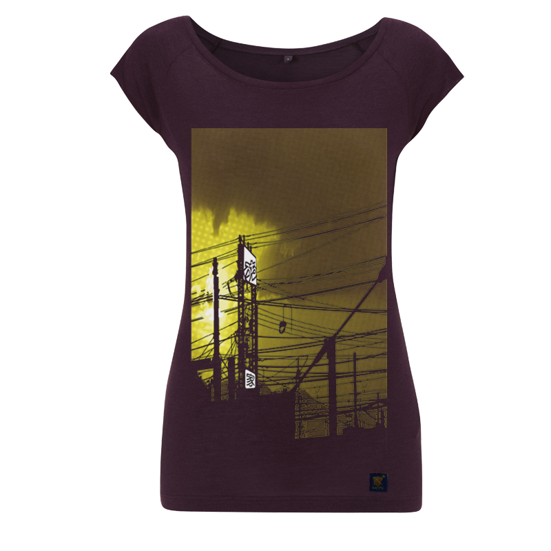 uchi sunset womens aubergine  t shirt