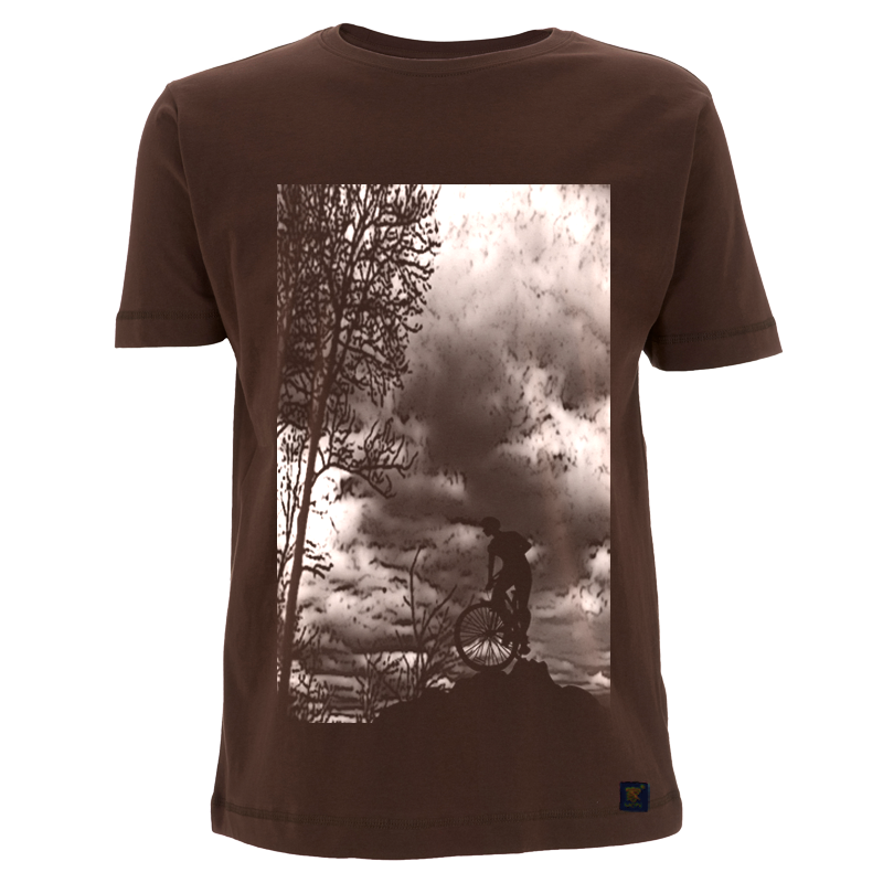 uchigothic Mountain Top men's brown T shirt