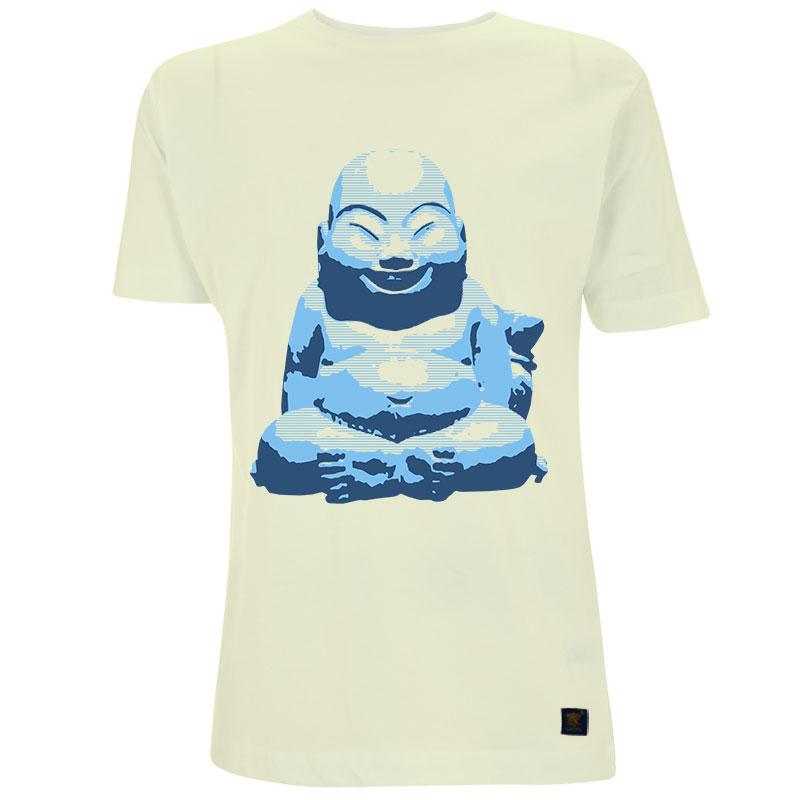 Hotei Buddha Men's linen T shirt