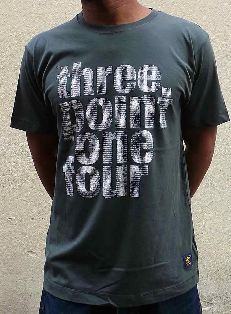 Pi squared Men's dark grey T shirt