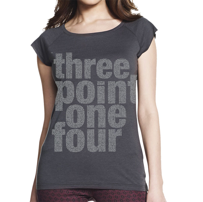 Pi squared women's charcoal grey T shirt